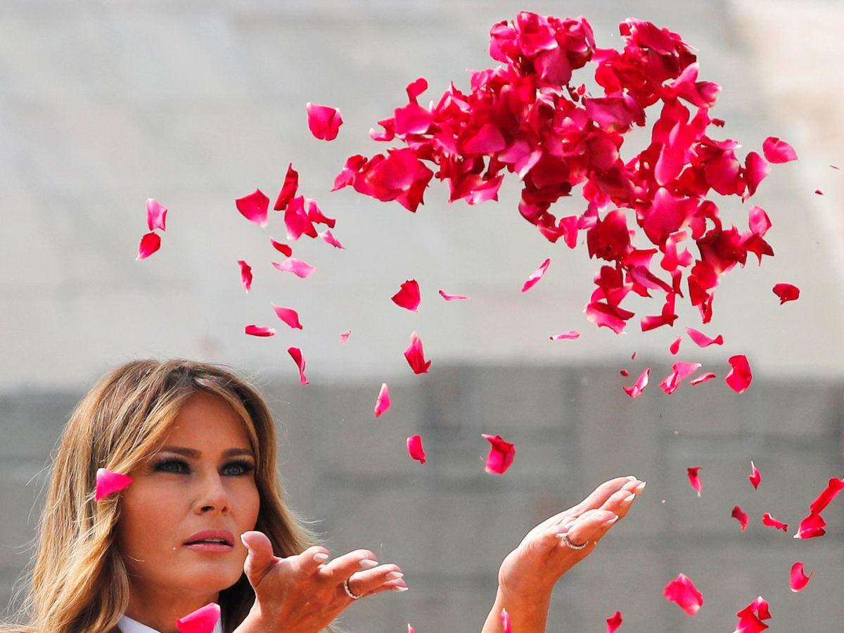 Foto: Melania Trump, en la India. (Reuters)