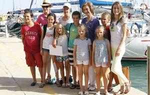 Letizia posa con la Familia Real en Mallorca
