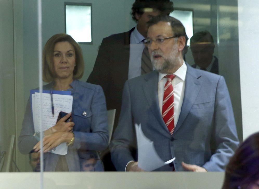 Foto: Rajoy, en la rueda de prensa en la que aseguró que el PP no cambiará nada tras las elecciones. (EFE)