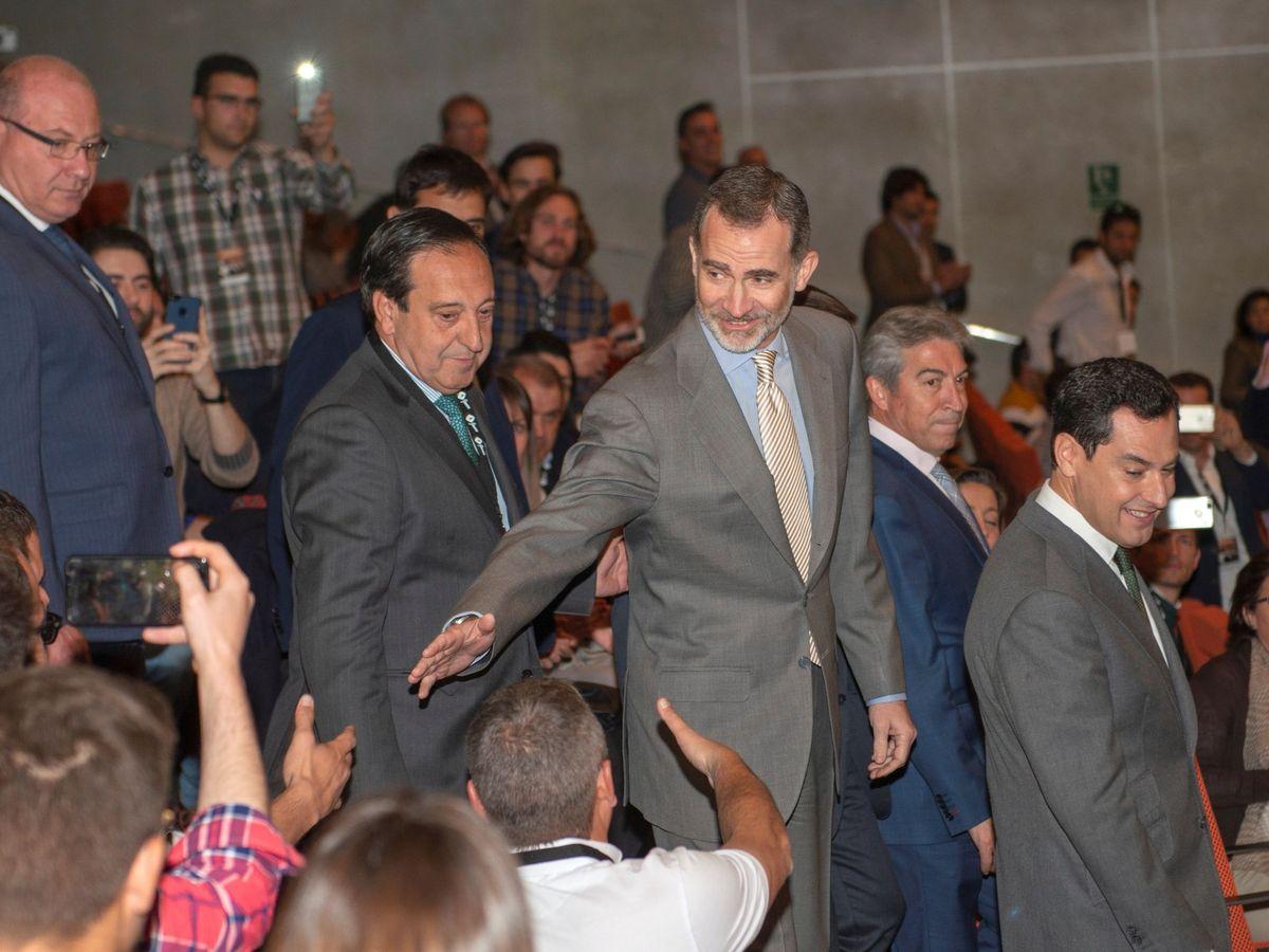 Foto: Felipe VI, en el Congreso Nacional de Jóvenes Agricultores, en Jaén. (EFE)