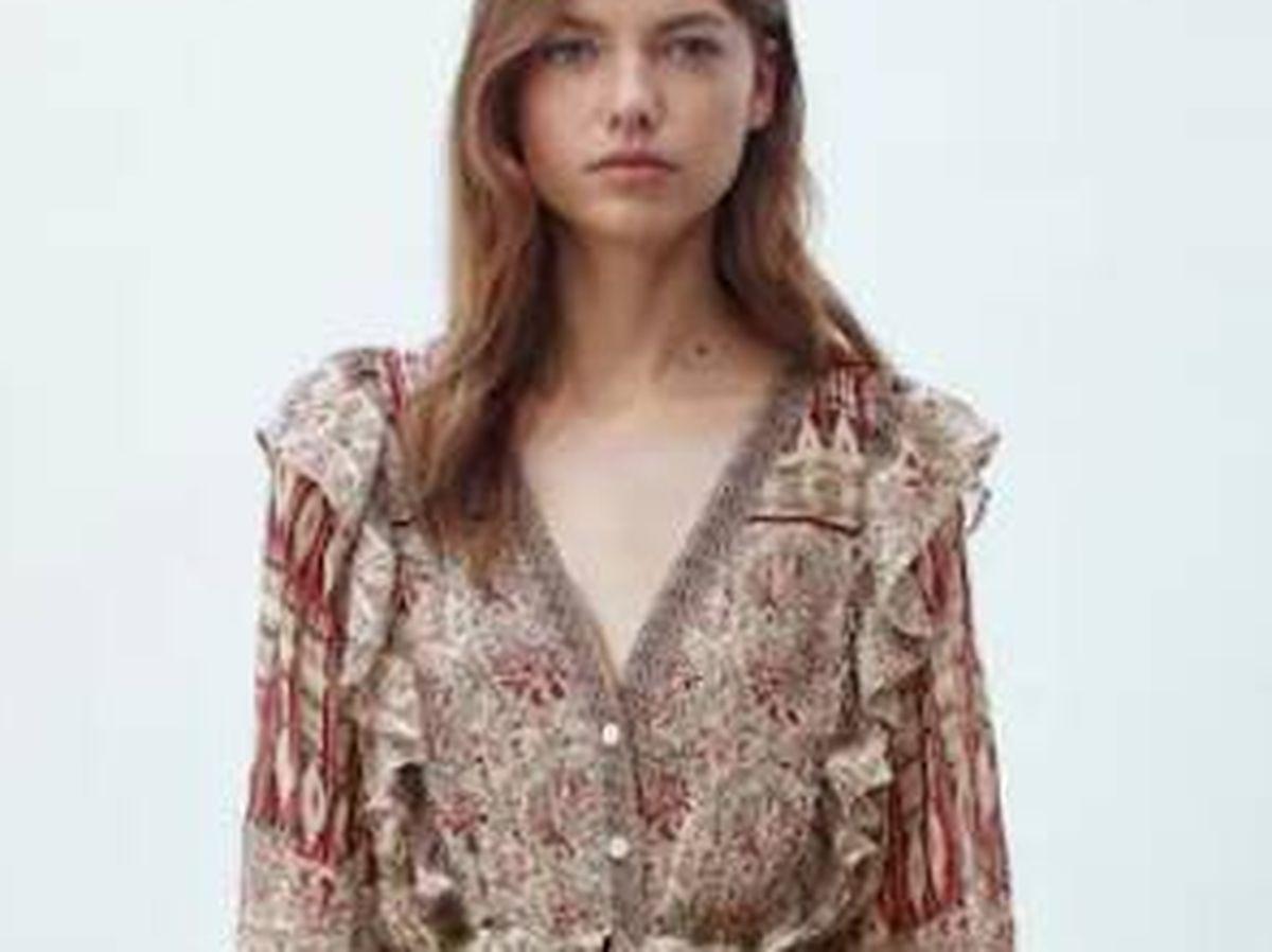 Foto: El vestido de aire bohemio que triunfa en Massimo Dutti. (Cortesía)