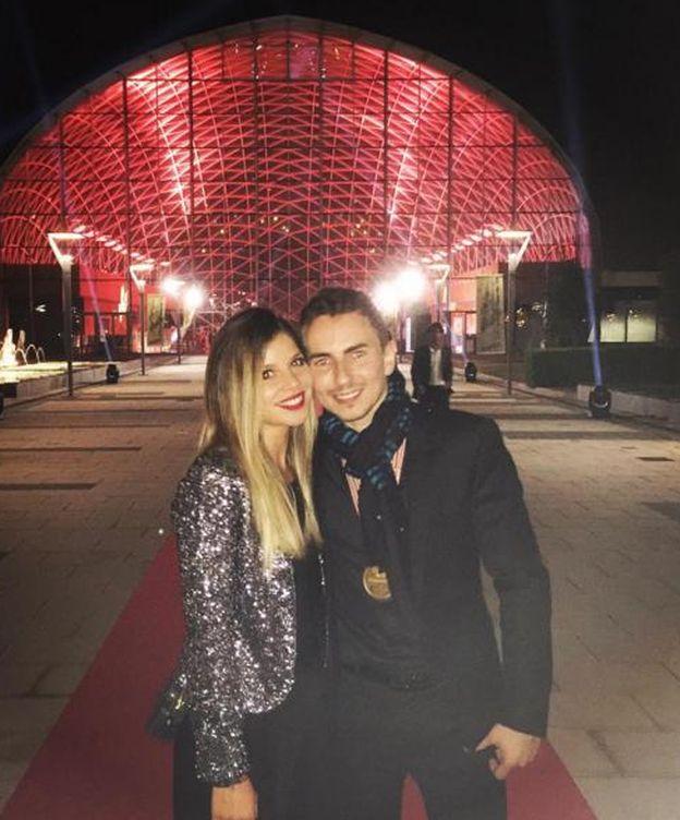 Foto: Jorge Lorenzo junto a Nuria Tomás en una imagen de su Instagram