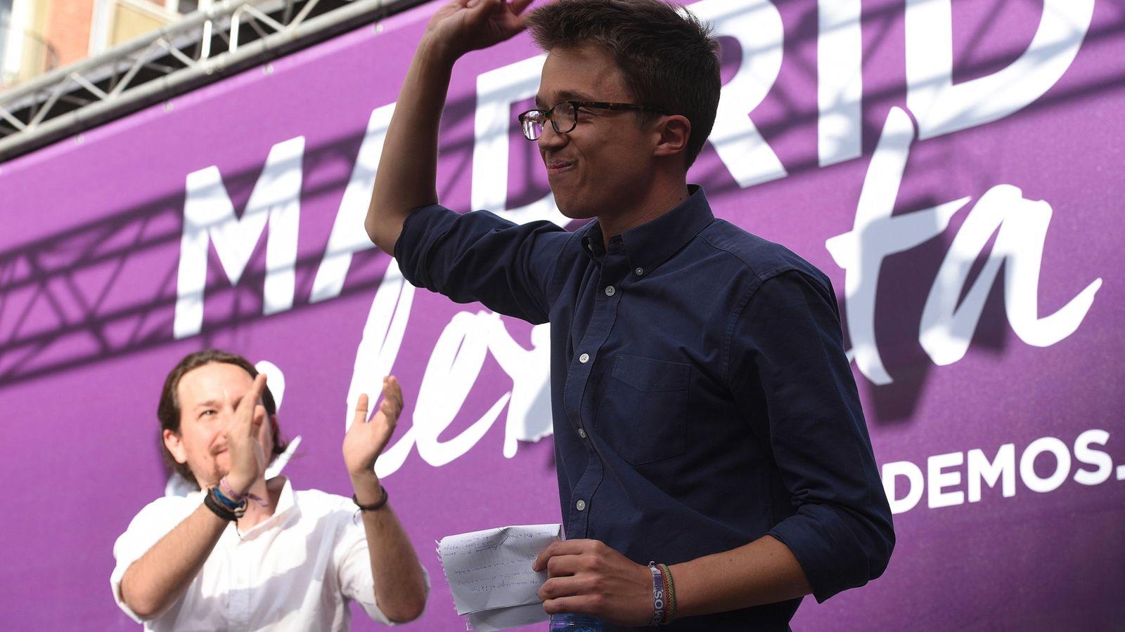 Foto: Los dirigentes de Podemos Pablo Iglesias e Íñigo Errejón, durante un acto del partido en Madrid. (EFE)