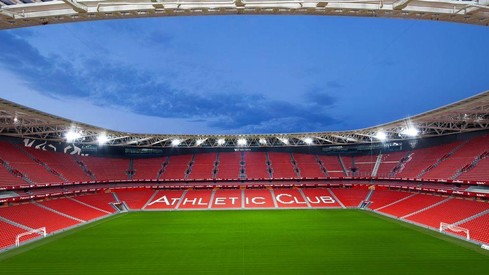 Foto: Panorámica del estadio de San Mamés.