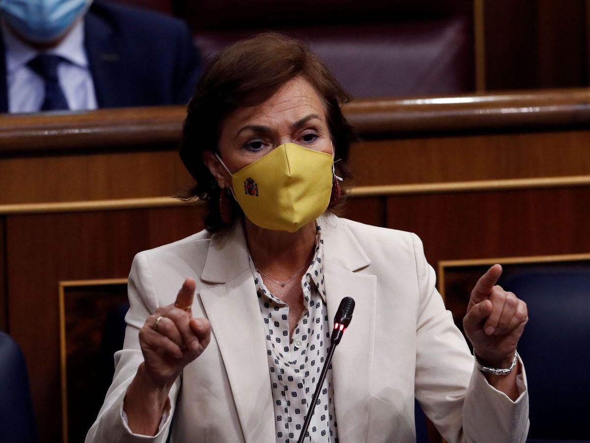 Foto: a vicepresidenta primera del Gobierno, Carmen Calvo. (EFE)