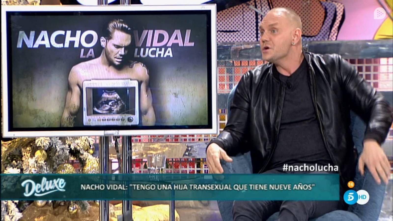 Foto: Nacho Vidal durante su intervención en 'Sálvame Deluxe'.