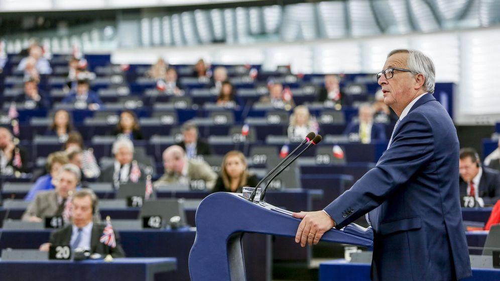 Foto: El presidente de la Comisión Europea, Jean-Claude Juncker, interviene en el debate del estado de la Unión en la Eurocámara. (EFE)