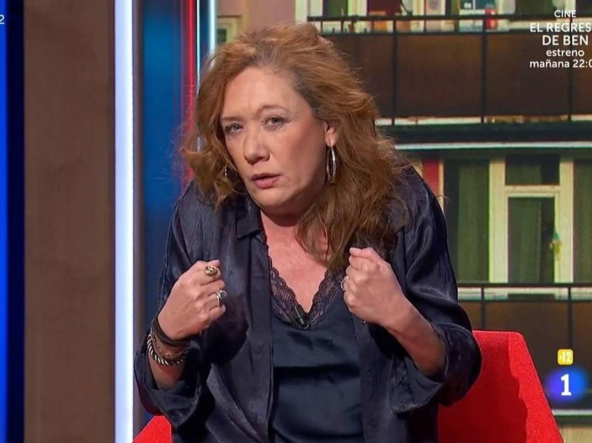 Foto: Cristina Fallarás, en 'La Pr1mera pregunta'. (TVE).