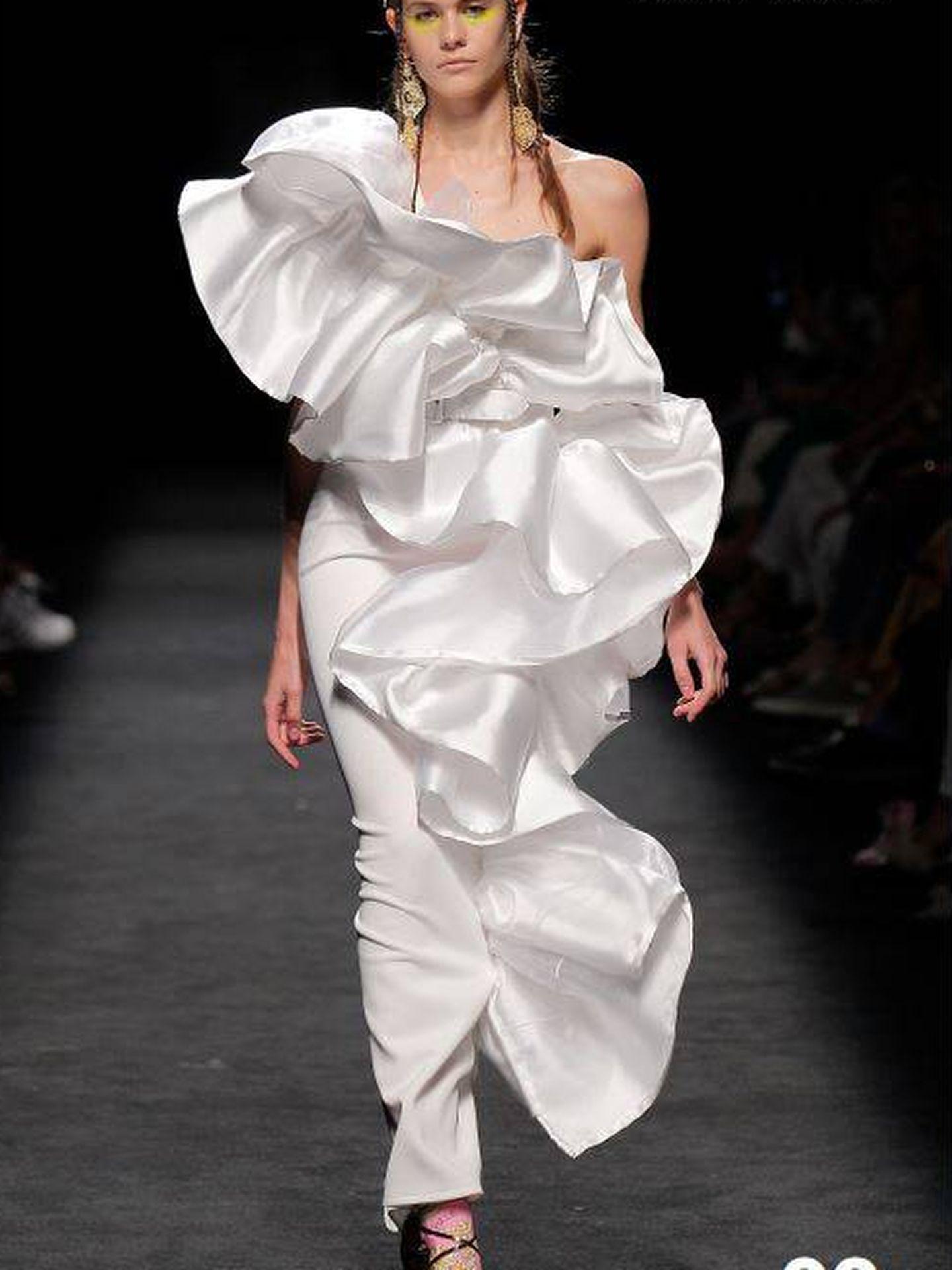 Vestido de la última colección de Roberto Diz que lució Pamela. (Cortesía)