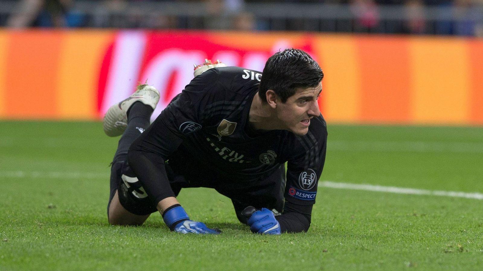Foto: Thibaut Courtois durante un partido del Real Madrid. (Efe)