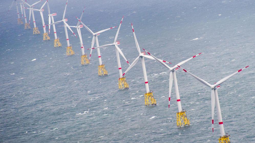 Foto: Parque eólico marino. (EFE)