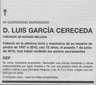 Foto: García Cereceda y la guerra de sus esquelas