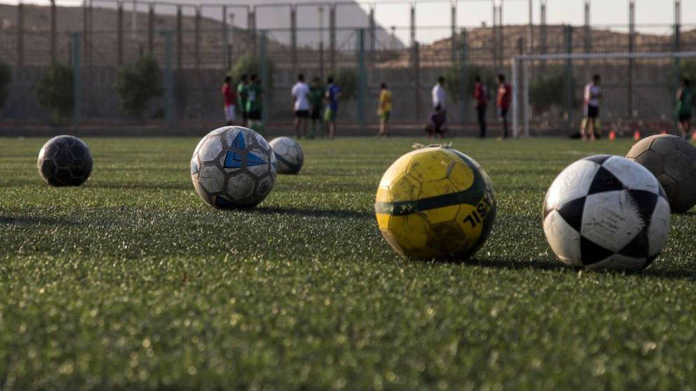 Foto: Detalle de un campo de fútbol.