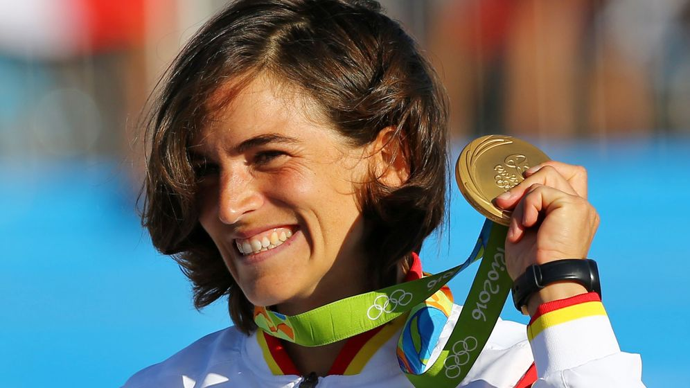 Foto: Maialen Chorraut con la medalla de oro (Reuters)