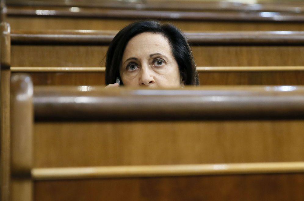 Foto: Margarita Robles, el pasado 12 de septiembre en el pleno del Congreso. (EFE)
