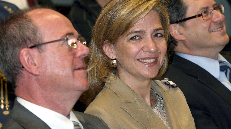 La infanta Cristina, en una reunión en La Caixa. (EFE)