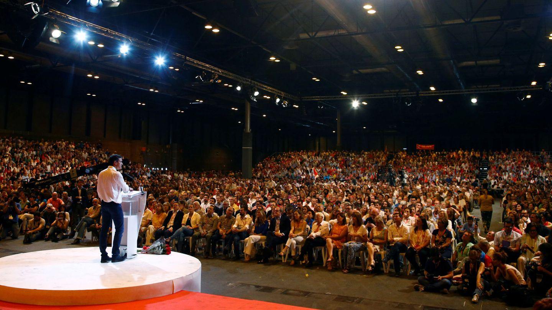 Pedro Sánchez interviene en la clausura del 39º Congreso, el 18 de junio de 2017 en Madrid. (Reuters)