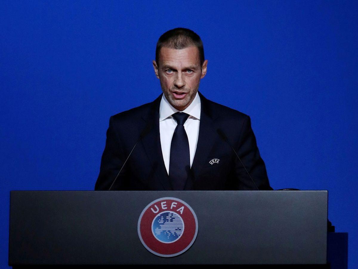 Foto: El presidente de la UEFA Aleksander Ceferin. (Reuters)