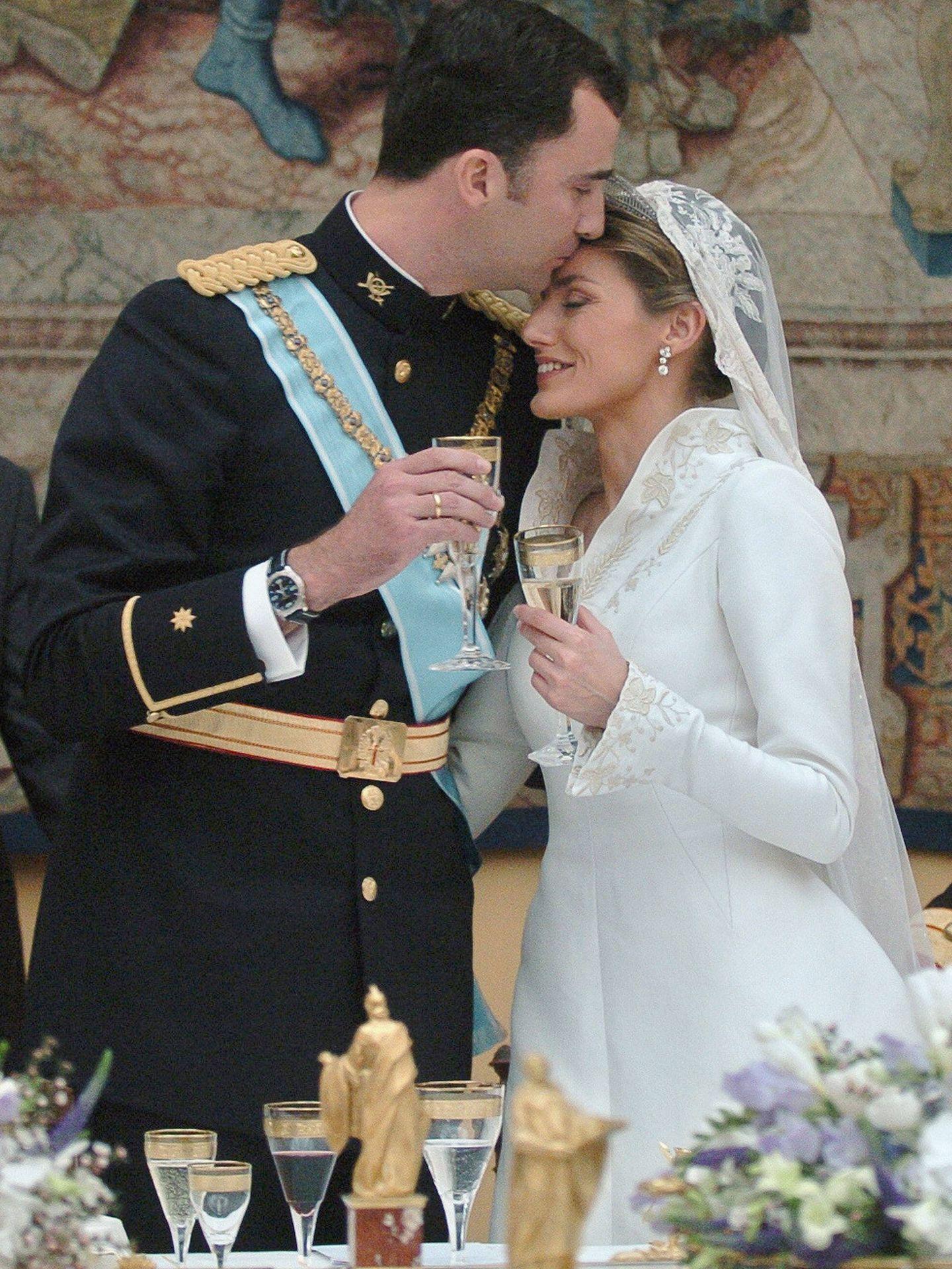 Felipe y Letizia, en su boda. (Getty)