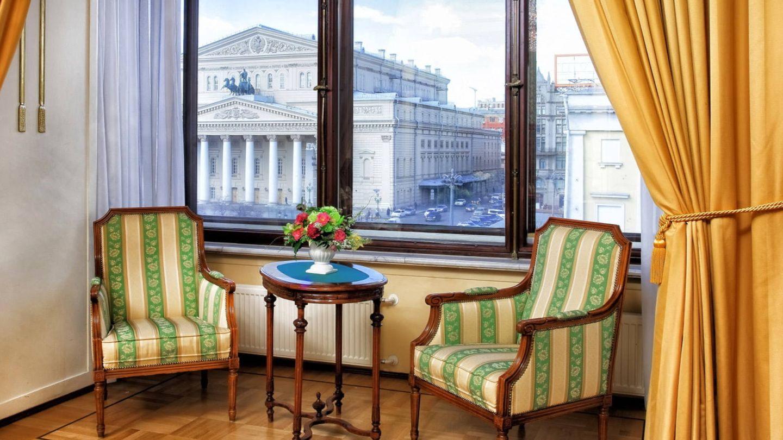 El teatro Bolshói desde una de las habitaciones del hotel Metropol.