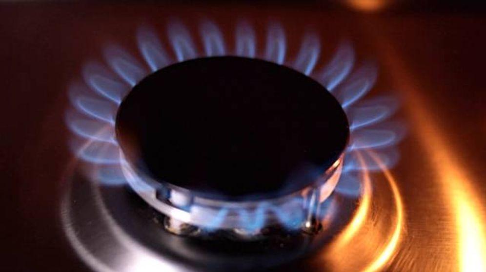 Foto: Un fuego de una cocina de gas de una vivienda
