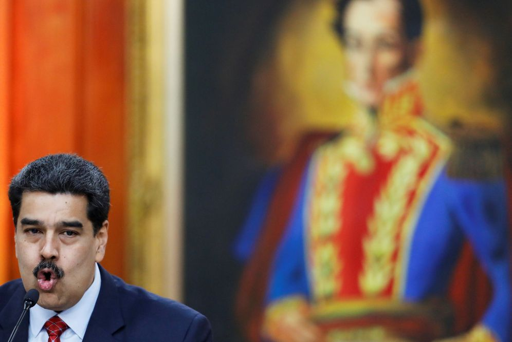 Foto: El presidente de Venezuela, Nicolás Maduro, este 25 de enero en el palacio de Miraflores. (EFE)