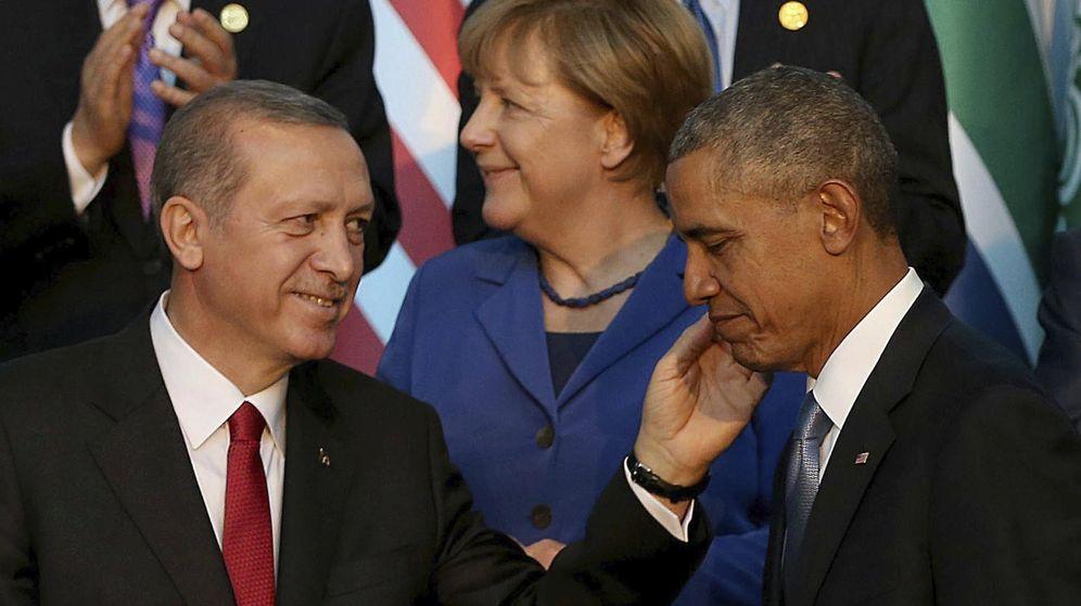 Foto: El presidente turco Recep Tayyip Erdogan junto a Barack Obama en el G20 Summit. (Reuters)