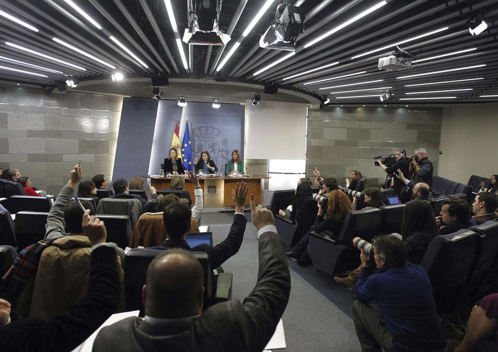 Foto: Sala de prensa del Palacio de La Moncloa. (Efe)