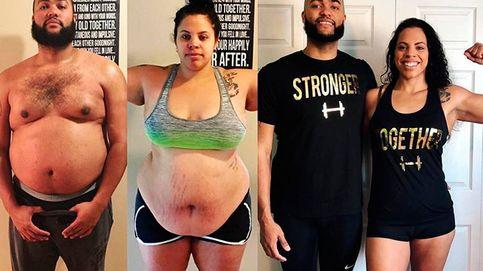 Los tres trucos que usó una pareja para adelgazar casi 100 kilos entre los dos