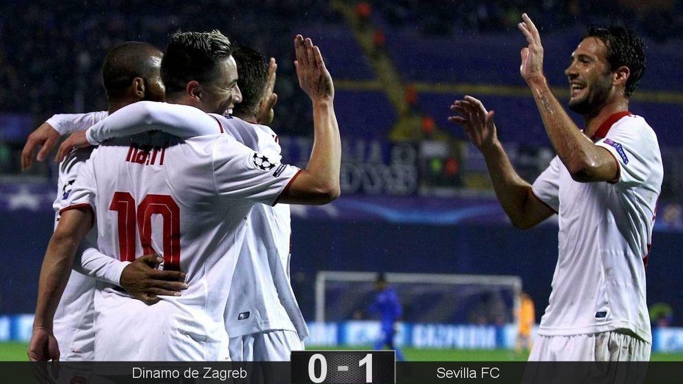Nasri deja al Sevilla a un paso de conseguir la clasificación para octavos