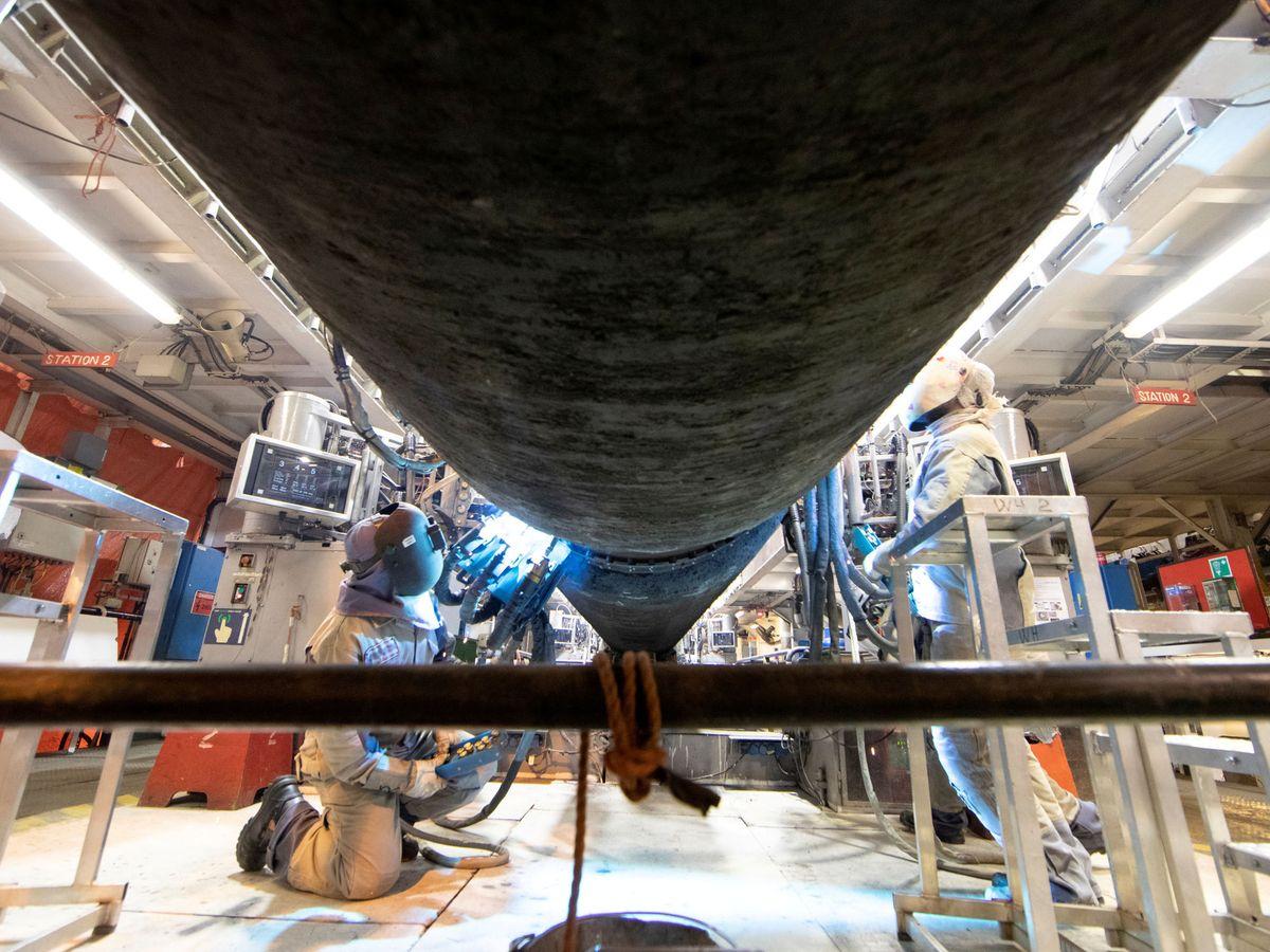 Foto: Tubería del Nodstream 2, el gasoducto que unirá Rusia directamente con Alemania a través del Báltico. Reuters