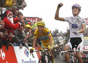 Contador cede el triunfo a Schleck en el Tourmalet y afianza el liderato