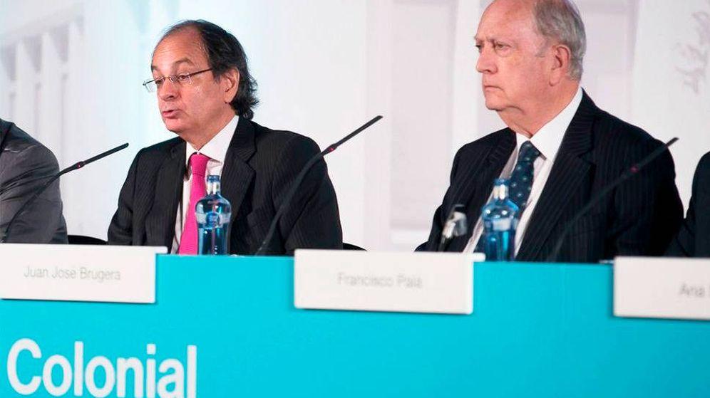 Foto: Pere Viñolas, CEO de Colonial, y Juan José Bruguera, presidente. (EFE)