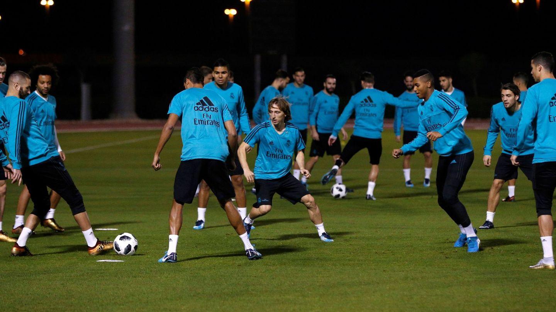 La plantilla del Real Madrid. (EFE)