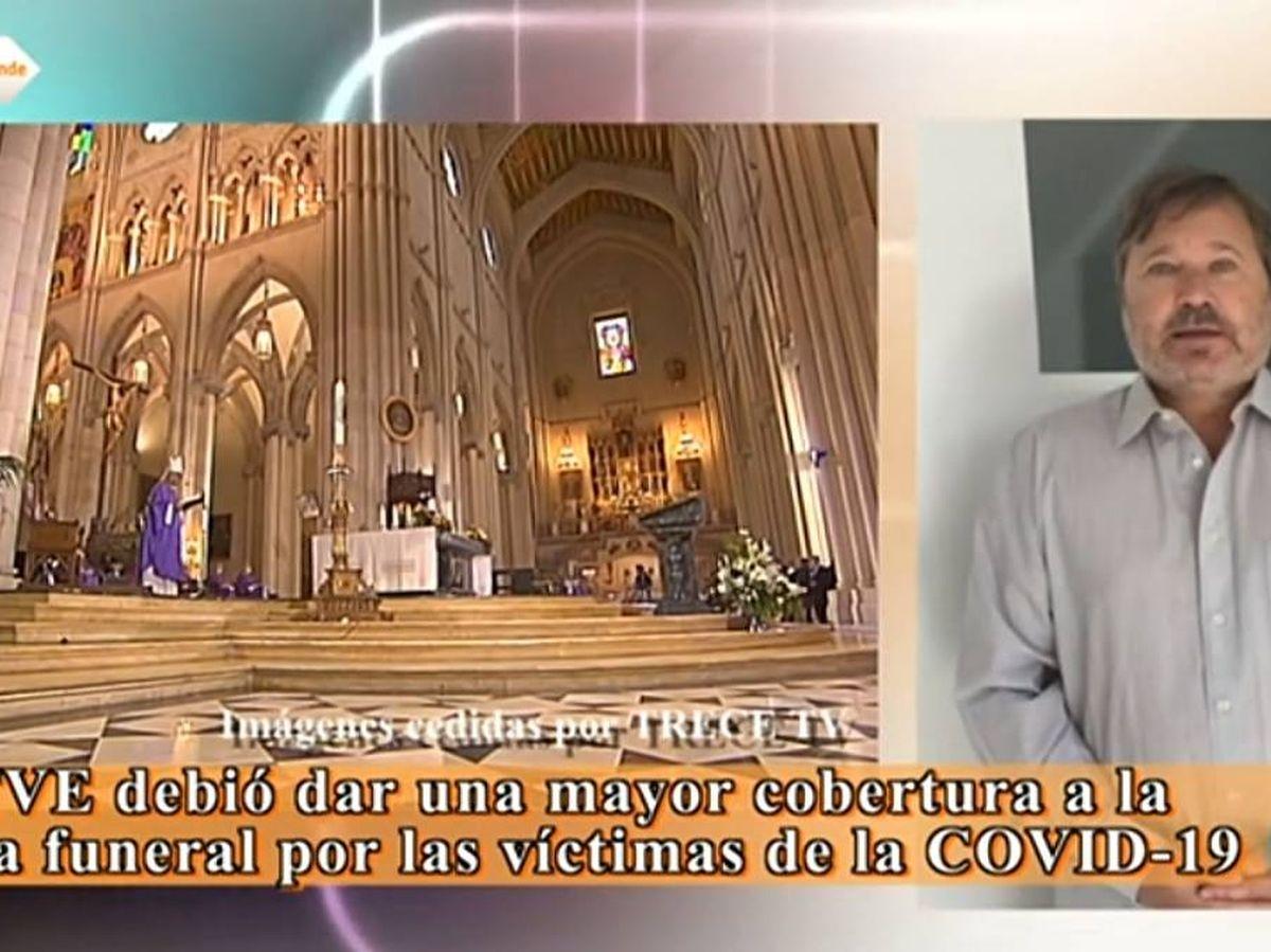 Foto: Ricardo Romero pidiendo explicaciones a TVE.