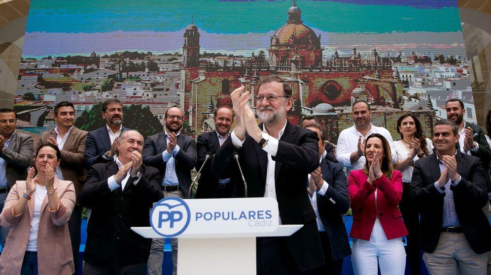 Foto:  El presidente del Gobierno y del Partido Popular, Mariano Rajoy, durante la clausura de un acto en Jerez de la Frontera. (EFE)