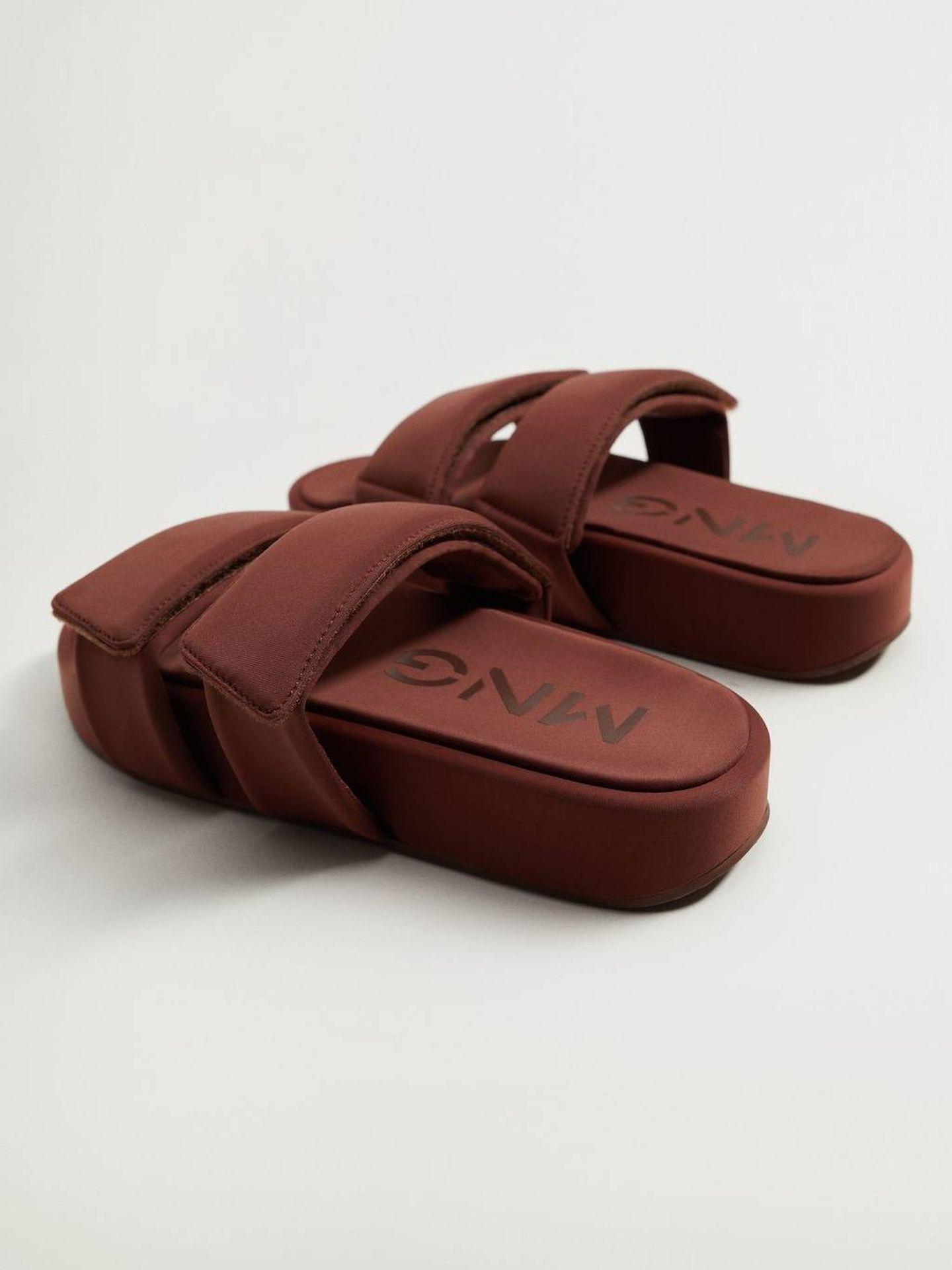 Las sandalias de Mango. (Cortesía)