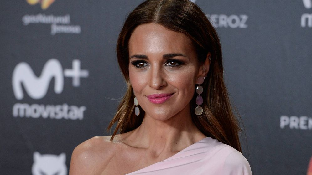 Foto: Paula Echevarría en los Premios Feroz con el vestido de Jorge Acuña. (Getty)
