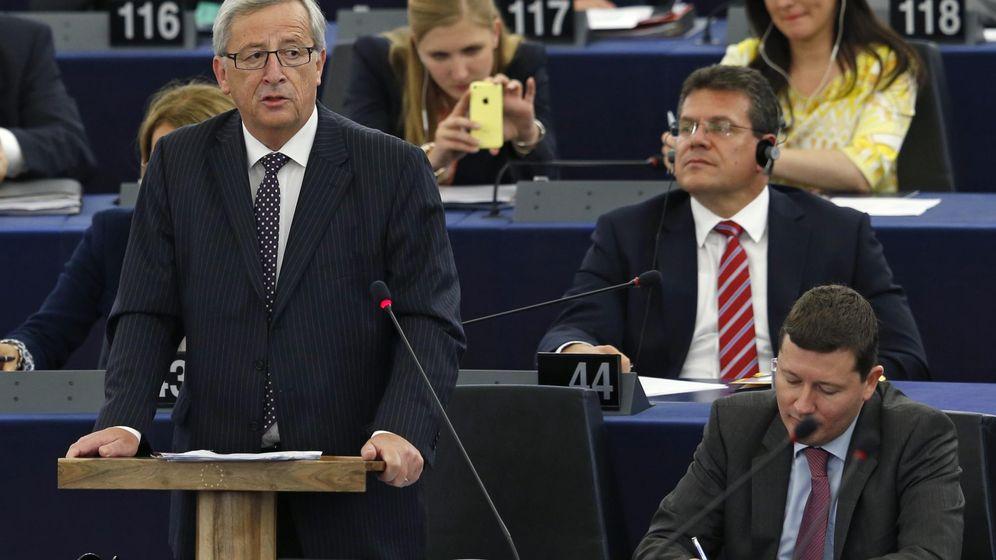 Foto: Juncker durante su discurso (Reuters)