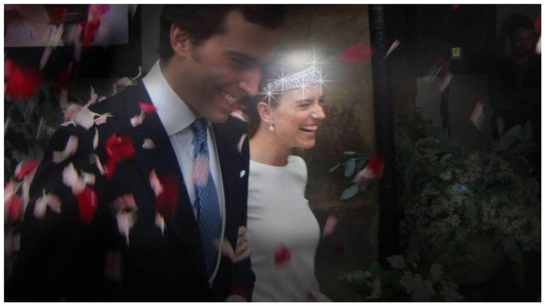 Hilda Armada Falcó, en su boda con Borja Márquez. (Foto de archivo)