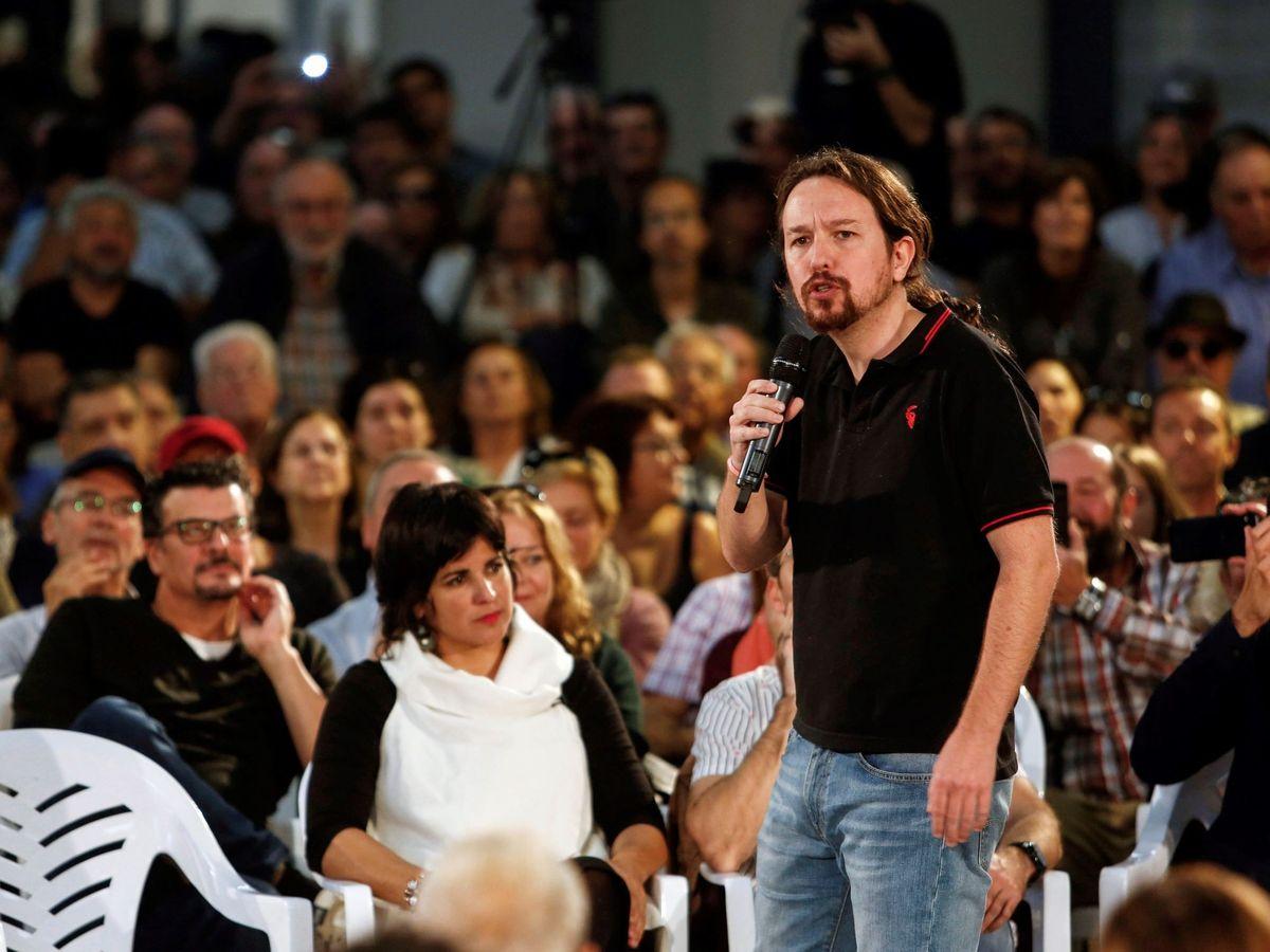 Foto: El líder de Unidas Podemos, Pablo Iglesias, en Jerez de la Frontera, Cádiz. (EFE)
