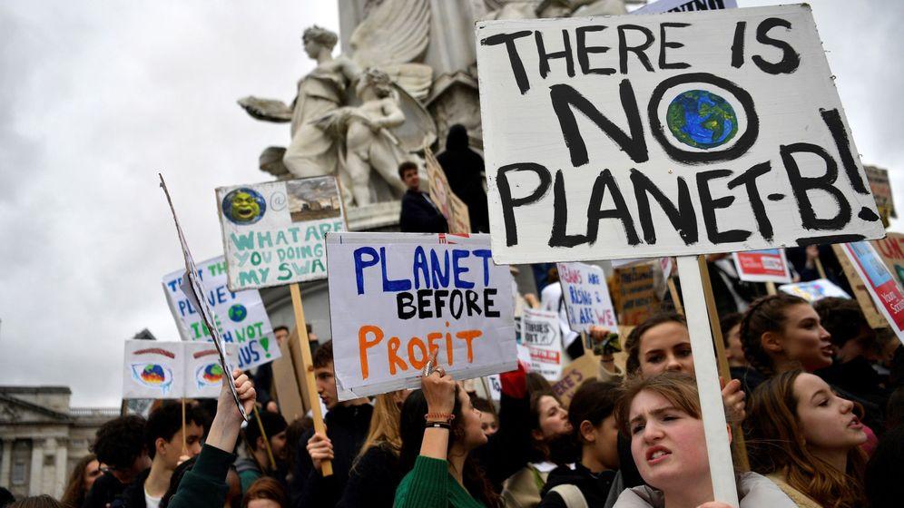 Foto: Manifestación en Londres por el cambio climático. (Reuters)