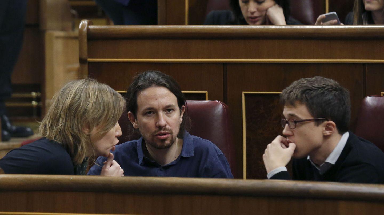 Tania Sánchez, Pablo Iglesias e Íñigo Errejón. (EFE)