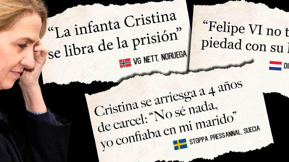 La infanta Cristina y los 7 titulares que reflejan cómo se ve su caso en Europa