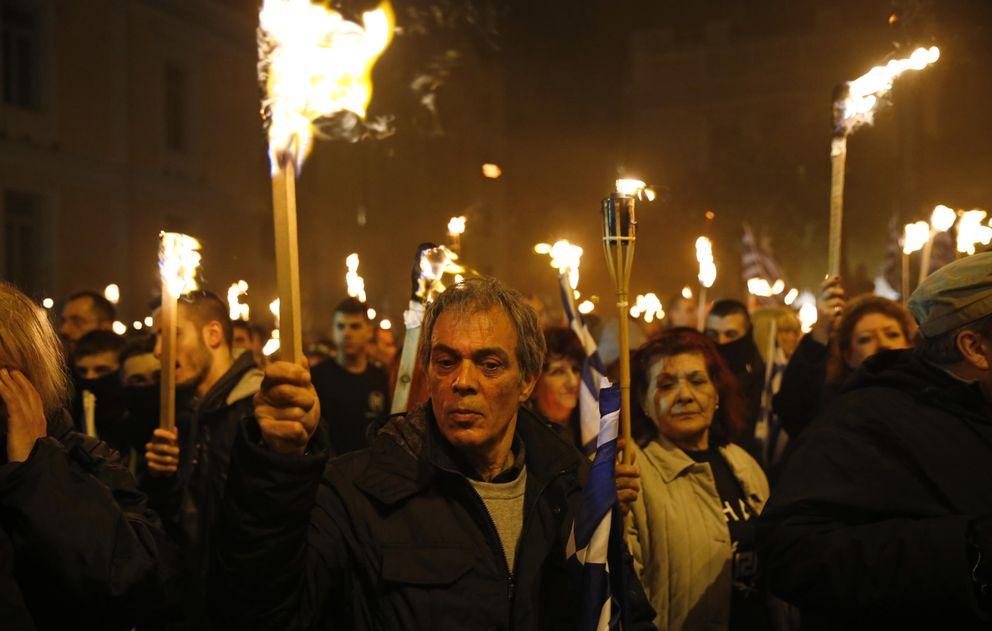 Foto: Manifestación de Amanecer Dorado en Atenas (Ap)