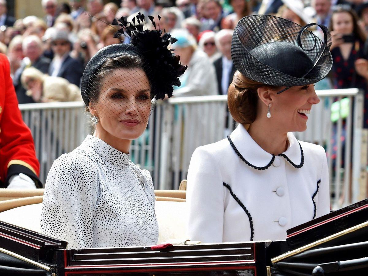 Foto: La reina Letizia y Kate Middleton, en una imagen de archivo. (EFE)
