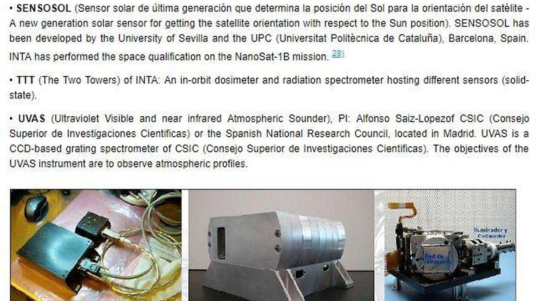 De los tres instrumentos que iban a formar parte del satélite español, solo uno irá a bordo (EoPortal)