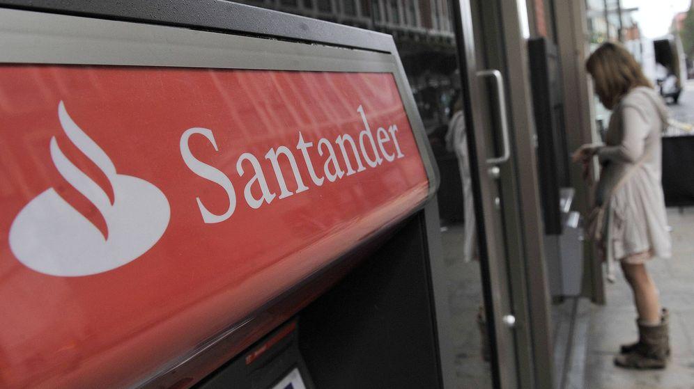 Foto: Cajero automático del Banco Santander (Efe)