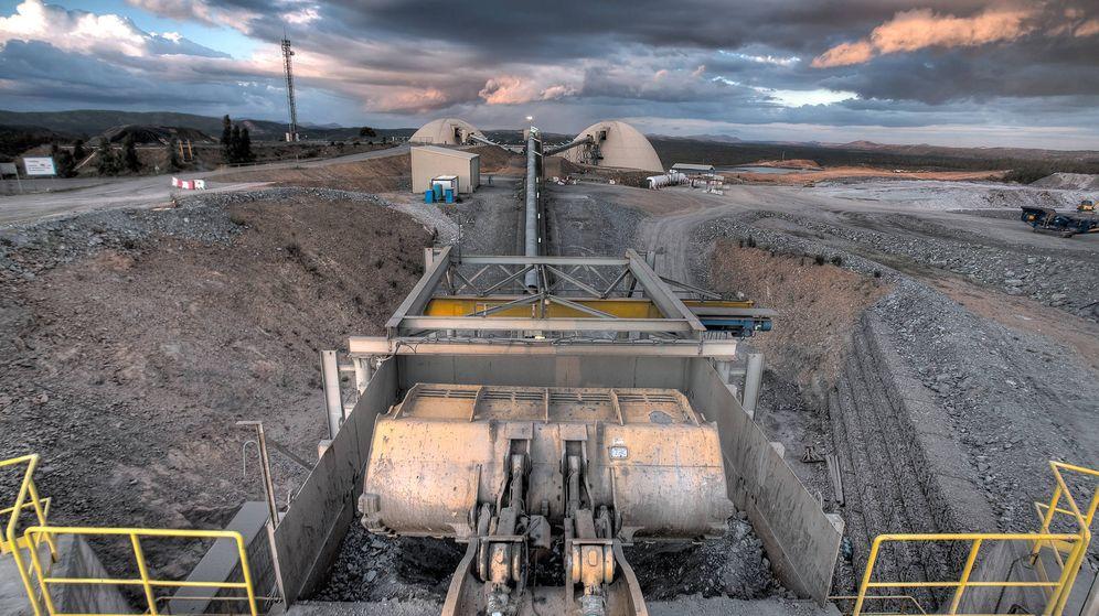 Foto: Machacadoras de mineral en la planta de Huelva. (Foto: Matsa)