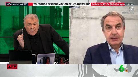 Zapatero apoya en directo el trabajo de Antonio García Ferreras en esta crisis